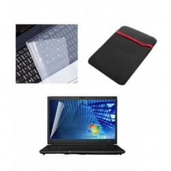 Dealmart Laptop Screen Guard & Key Protector With Laptop Protection Sleeve For All Laptops Size-15.6