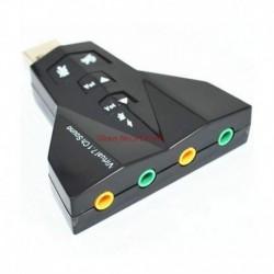 RoQ Black Virtual Ocean 7.1 Channel USB Sound Card