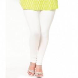 Castle Lifestyle Off-white Cotton Lycra Leggings