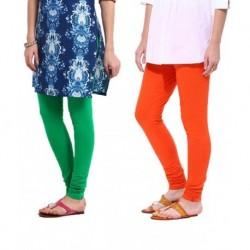 Tjaggies Multi Color Stylish  Leggings - Set of 2