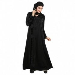 Ehaani Black Stitched Burqas with Hijab