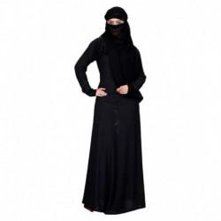 Shifali Collection Black Stitched Burqas with Hijab