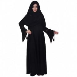 Dubai Abaya Black Stitched Burqas with Hijab