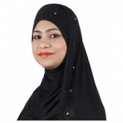 Alizia Enterprise Black Cotton Stitched Hijabs