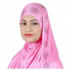 Alizia Enterprise Pink Cotton Stitched Hijabs