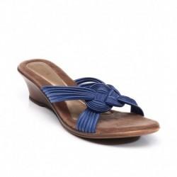 Catwalk Blue Heeled Slip On
