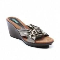Catwalk Silver Wedges Heeled Slip-on