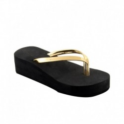Shoe Lab Gold Slippers