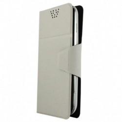 Molife Universal   Flip Cover For Lava Iris X1 - White