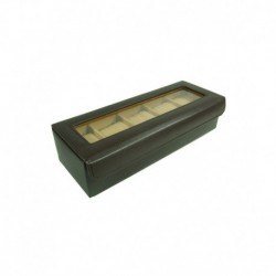 Essart PU Leather Watch Box For 5 watches - Brown