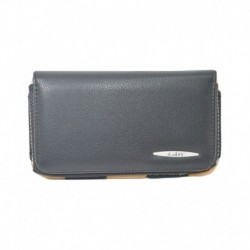 Indiacod Black Leather Belt Pouch For Apple Iphone 5s