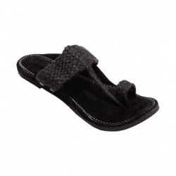 Royal Collection Black Jute Kolhapuri Chappal