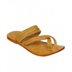 Step Zone Brown Kolhapuri Chappal