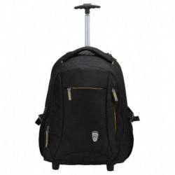 Novex Pacific Black 47 Nylon Trolley Backpack