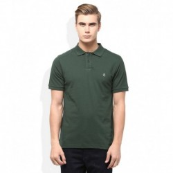Original Penguin Green Solid Polo T Shirt