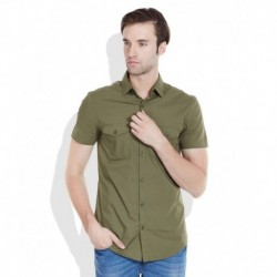 United Colors of Benetton Green Regular Fit Casual Shirt