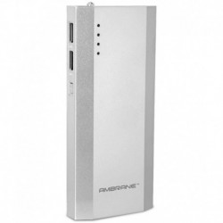 Ambrane P-1111 10000mAh Power Bank - Silver