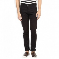 Spykar Black Solid Chinos