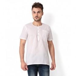 Mall4all White Daily Cotton Kurtas