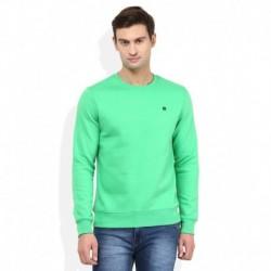 American Swan Green Round Neck Sweatshirt