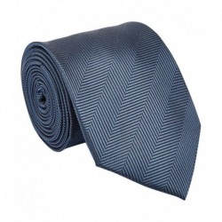 Park Avenue Grey Printed Silk Knitted Tie for Men