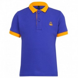 United Colors of Benetton Blue Solid Polo T-Shirt