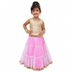 Kilkari Pink Cotton Blend Ghaghara Set