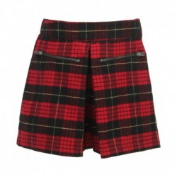 United Colors Of Benetton Red Checked Shorts