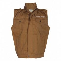 Gini & Jony Beige Polo Neck Sleeveless T-Shirt