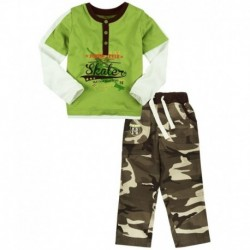 Oye Green Cotton T-Shirt And Shorts
