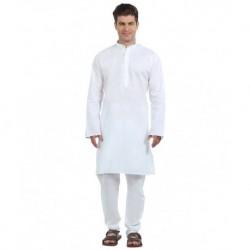 FTC White Cotton Kurta Pajama
